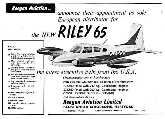 Keegan Aviation: Riley 65 : G-ARRR
