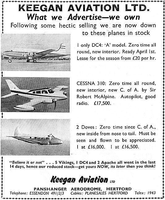 Keegan Aviation: Aircraft Sales
