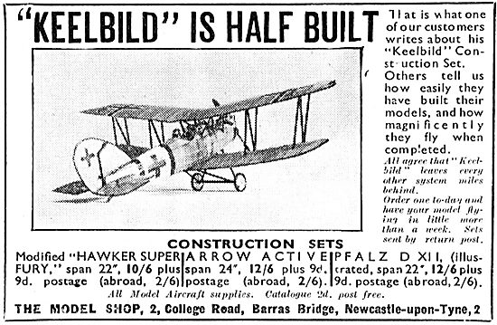Keelbild Model Aircraft Construction Sets - PFALZ DXII