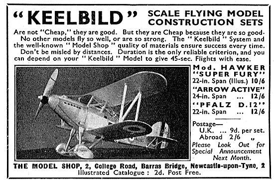 Keelbild Scale Model Construction Sets - Hawker Super Fury