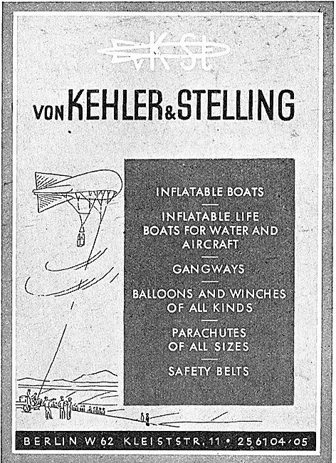 Von Kehler & Stelling Flotation & Survival Gear. Barrage Balloons