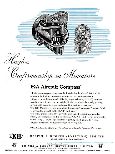 Kelvin & Hughes Aviation Instruments Smiths Aircraft Instruments
