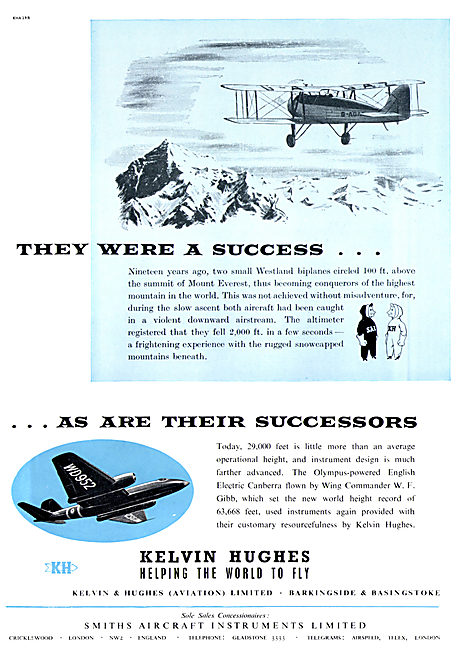 Kelvin & Hughes Aviation Instruments Smiths Aircraft Instruments