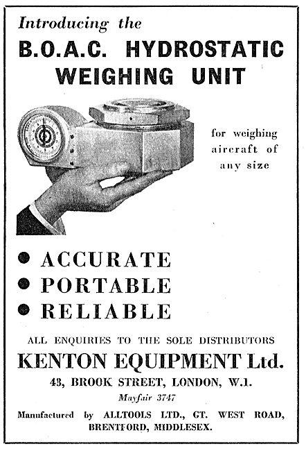 Kenton Equipment BOAC Hydrostatic Aircraft Weighing Unit