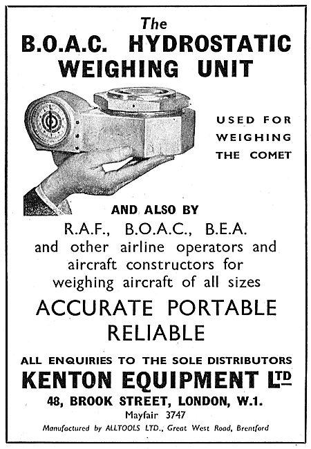 Kenton Equipment B.O.A.C.Hydrostatic Weighing Unit