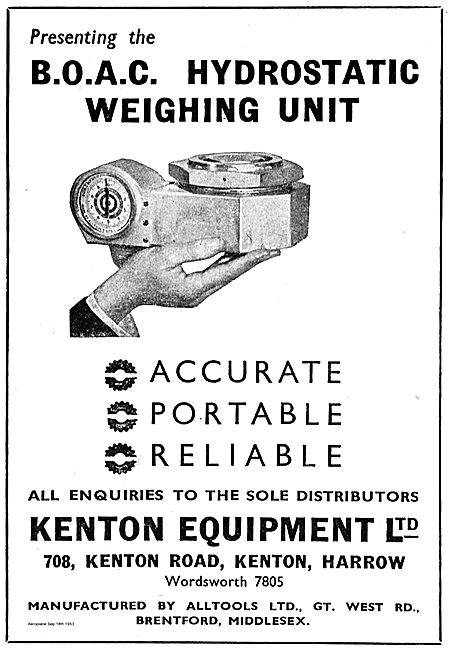 Kenton Equipment BOAC Hydrostatic Weighing Unit