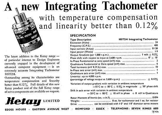 Ketay Integrating Tachometer 1958