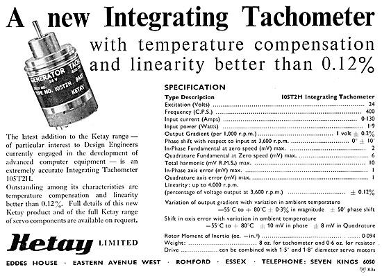 Ketay Integrating Tachometer 1959