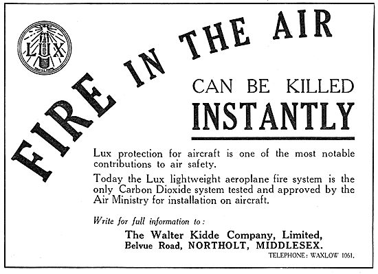Walter Kidde LUX Aircraft FIre Protection System
