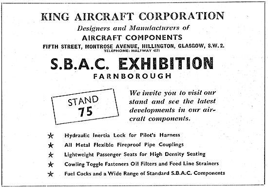 King Aircraft Corporation 1949 - Standard Parts For Aircraft