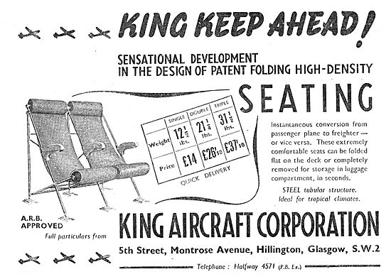 King Aircraft Corporation High Density Aircraft Cabin Seating