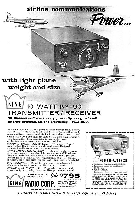 King Avionics - King KY-90 VHF