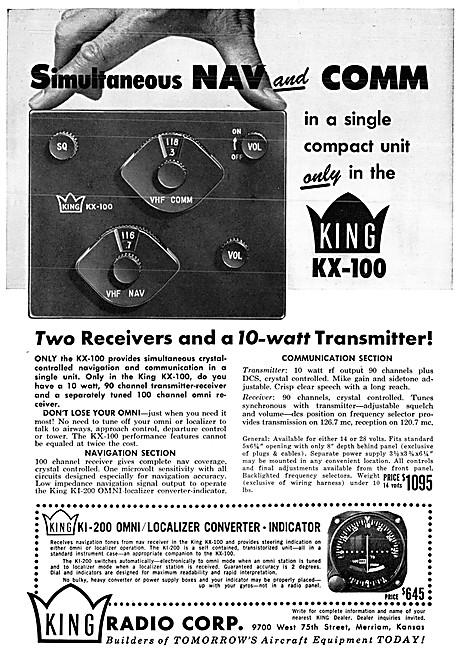 King Avionics - King KX-100 Nav/Com