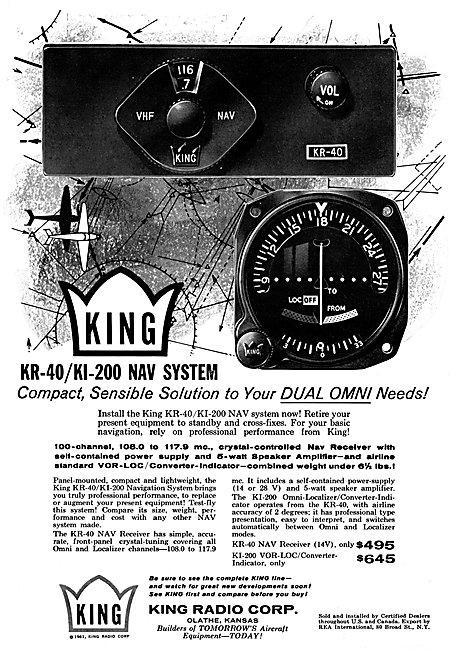 King Radio Corporation -  King KR-40 / KI-200 Navigation System