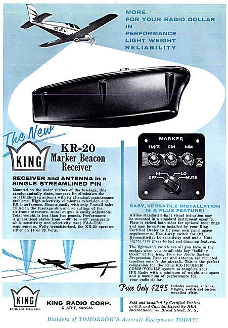 King Avionics. King KR-20 Marker Beacon Receiver