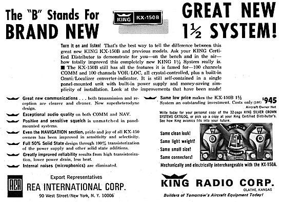 King Radio Corporation KX-150B Nav Comm 1965