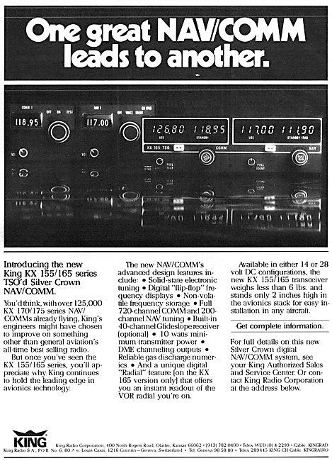 King Radio Corporation - King KX 155 Silver Crown KX 170