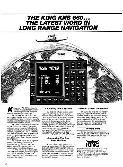 King Radio Corporation - King KNS 660
