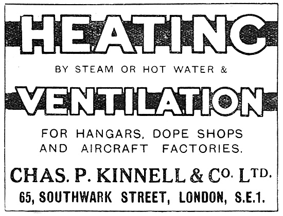 Chas P. Kinnell  Air Conditioning For Aircraft Dope Shops