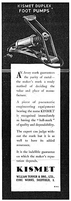 William Turner Kismet Pneumatic Engineering Equipment