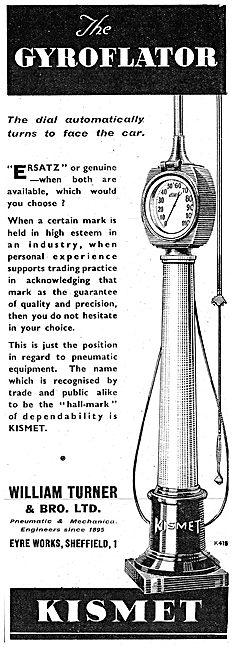 William Turner Kismet Pneumatic Pumps Gyroflator 1943