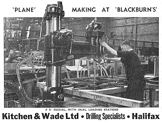 Kitchen & Wade 4' Radial Drill With Dual Loading Stations. 1939