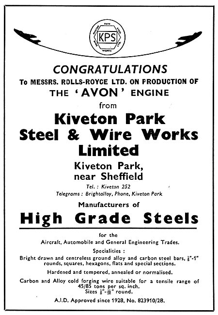 Kiveton Park Steel & Wire Works - High Grade Steels