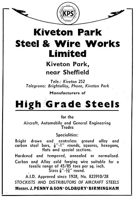 Kiveton Park Steel & Wire Works - High Grade Steels