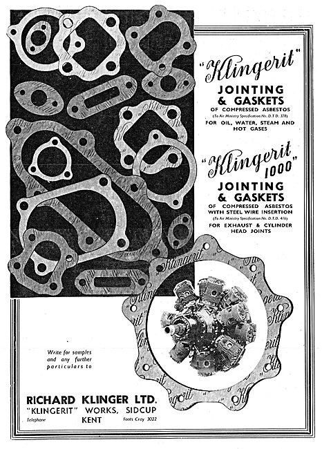 Klingerit Asbestos Gaskets & Jointing