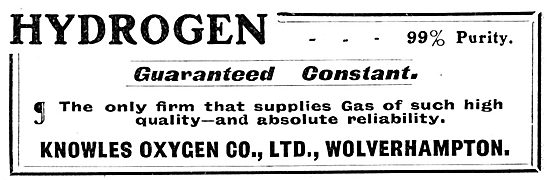 Knowles Oxygen Co. Wolverhampton. Knowles Hydrogen