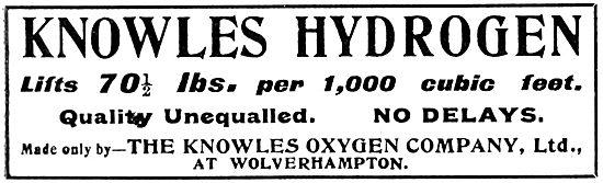 Knowles Oxygen Co. Hydrogen