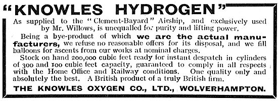 Knowles Hydrogen As Supplied To The Clement-Bayard Airship.