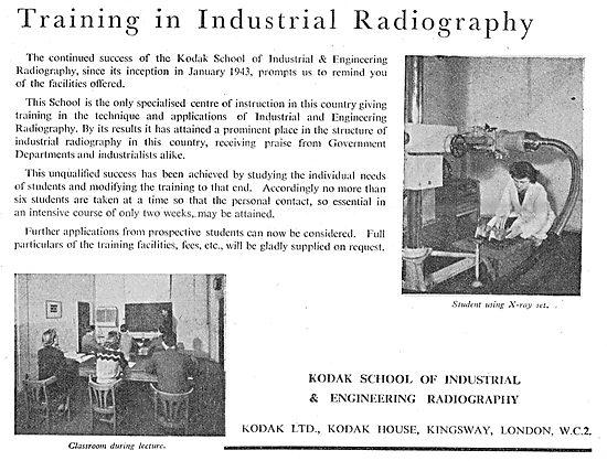 Kodak School Of Industrial & Engineering Radiography