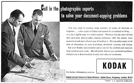 Kodak Document-Copying Equipment 1952