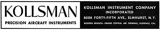 Kollsman Aircraft Instruments