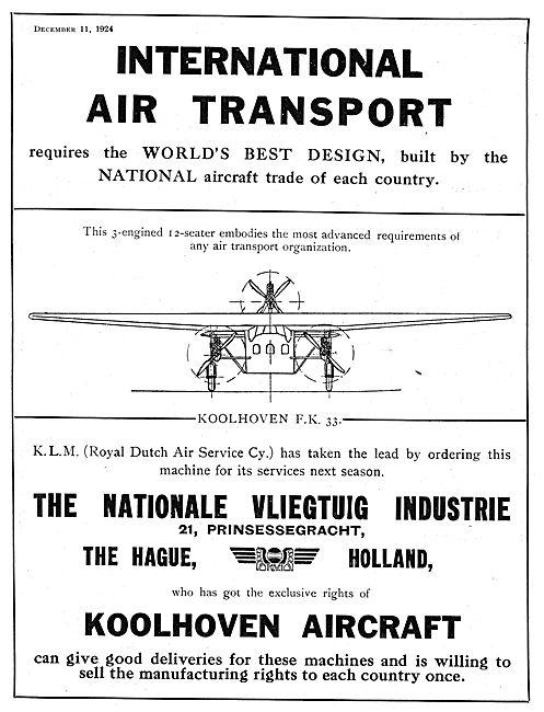 Koolhoven FK33 Aircraft