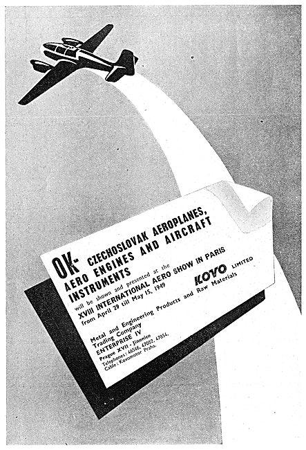 Kovo OK Czechoslovak Aeroplanes, Engines & Instruments