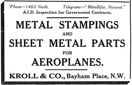 Kroll & Co. Metal Stampings & Sheet Metals Parts