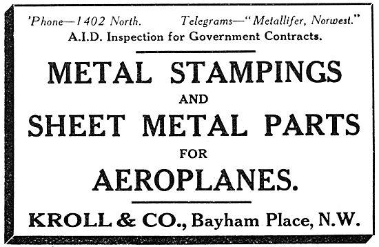Kroll & Co. Bayham Place. Metal Stampings & Sheet Metal Parts