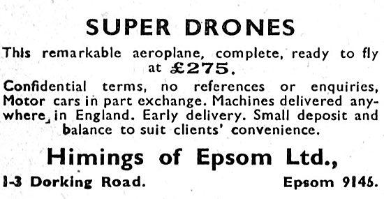 Himings Of Epsom : BAC Kronfeld Super Drone