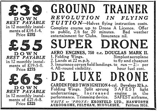 Kronfeld: Ground Trainer: Kronfeld Drones