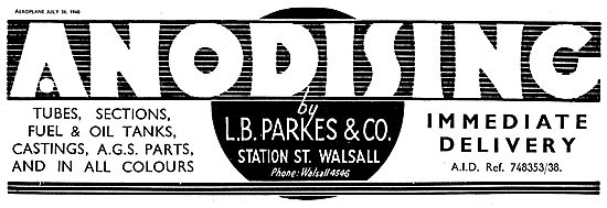 L B Parkes Anodising Walsall