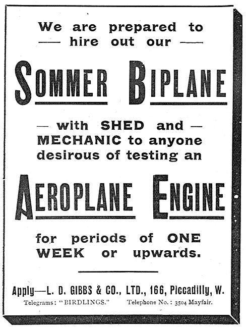 L.D.Gibbs - Sommer Biplane For Hire