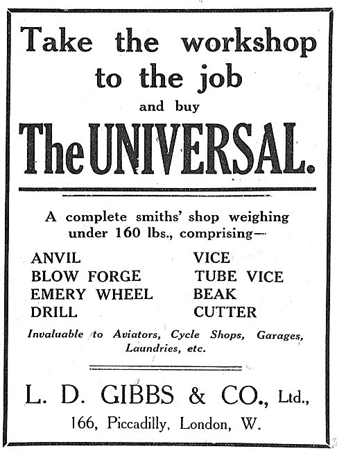 Take The Workshop To The Job - The Universal From L.D.Gibbs & Co
