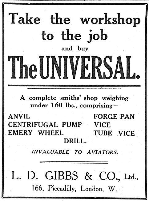 The L.D.Gibbs & Co Universal Portable Wrokshop & Smithy