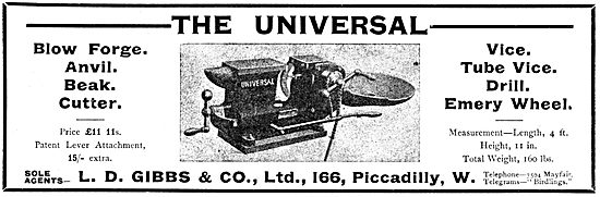 L.D.Gibbs Universal Blow Forge, Anvil & Beak Cutter