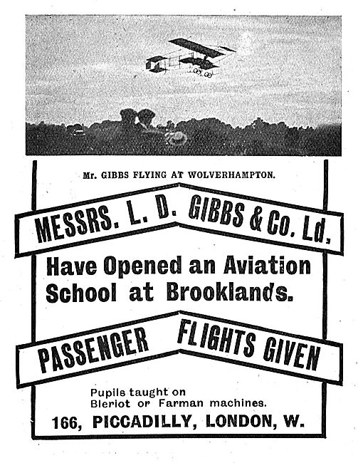L.D.Gibbs & Co Have Opened An Aviation School At Brooklands