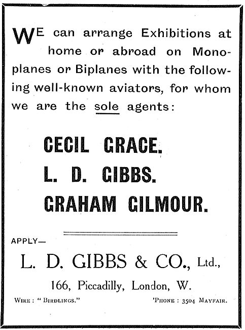 L.D.Gibbs & Co  Agents For Cecil Grace, L.D.Gibbs, Graham Gilmour
