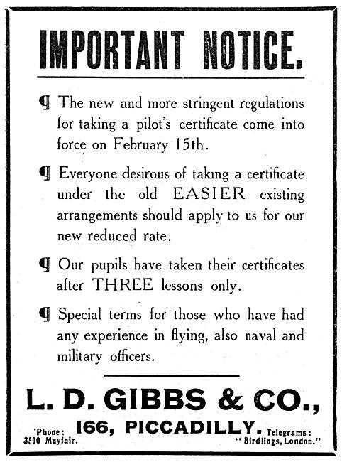 L.D.Gibbs Flying Training
