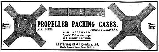 LEP Transport - Propeller Packing Cases